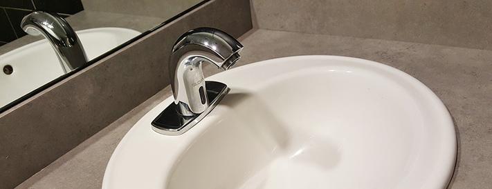 Waschbecken mit Verbrühschutz