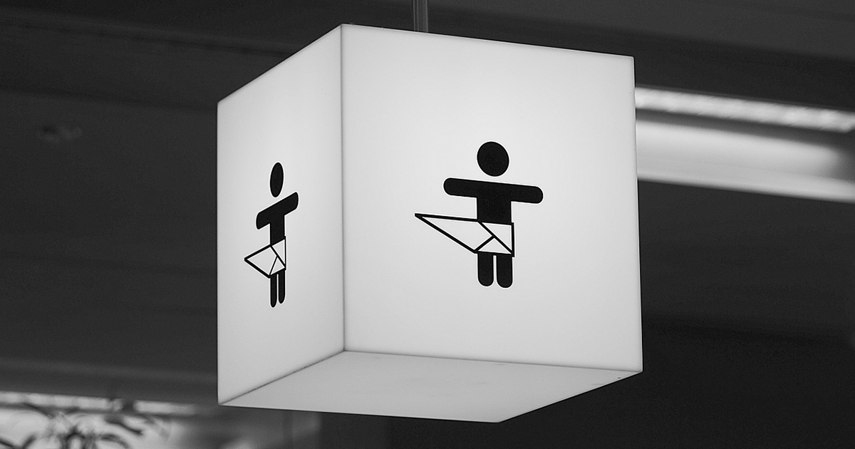 Ein Icon, dass die Position eines Wickeltisches anzeigt